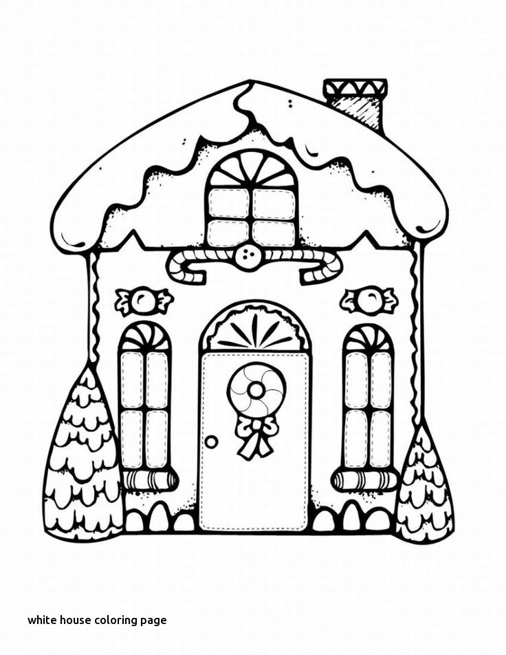 736x952 Beautiful Cottage Coloring Page Coloring Pages For White House