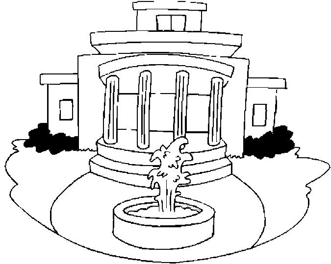 675x539 White House Coloring Page