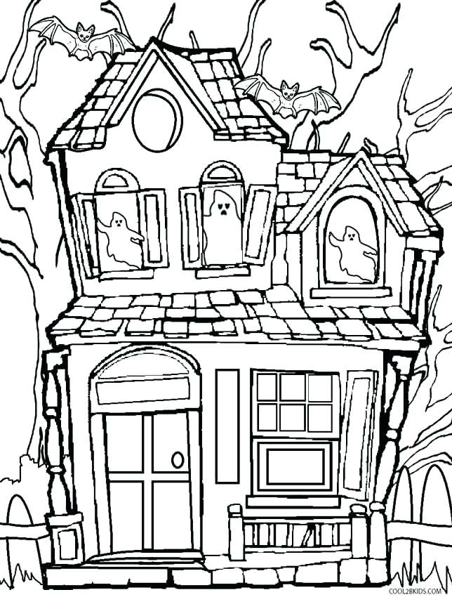 644x850 House Coloring Pages