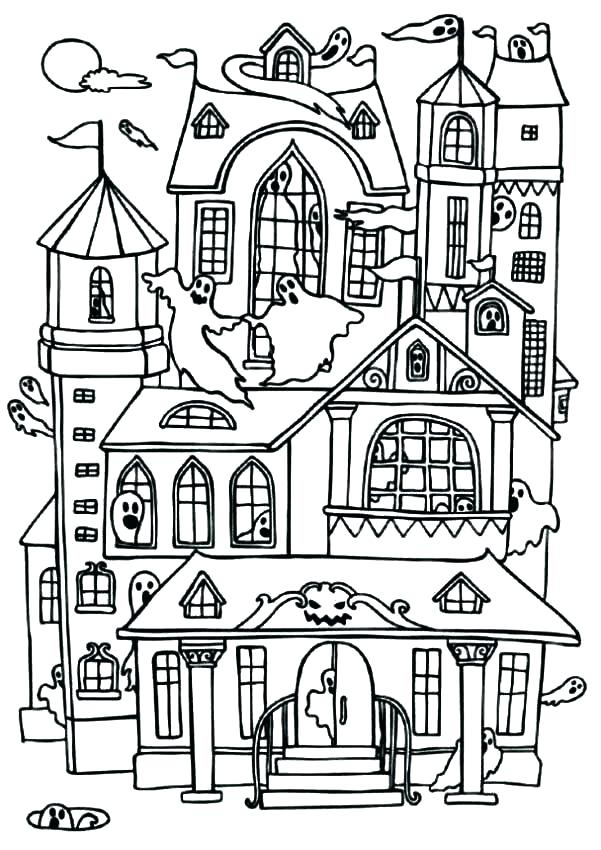 601x850 House Coloring Pages