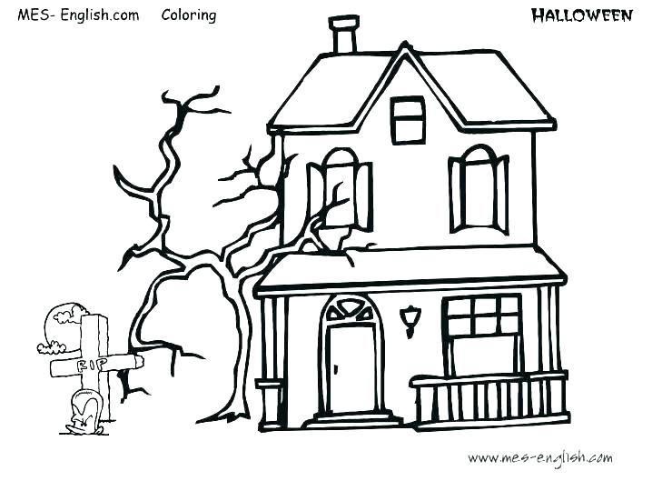 740x540 Haunted Mansion Coloring Pages Coloring Pages For Kids Winter