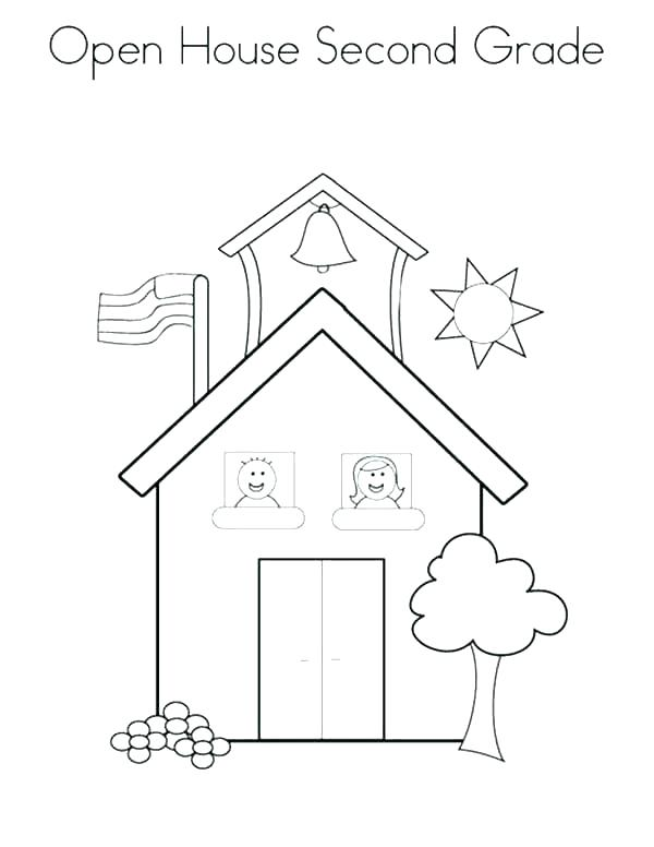 600x776 House Coloring Book House Coloring Pages Pictures House Coloring