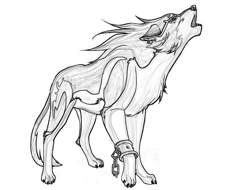 800x667 Anime Wolves Coloring Pages