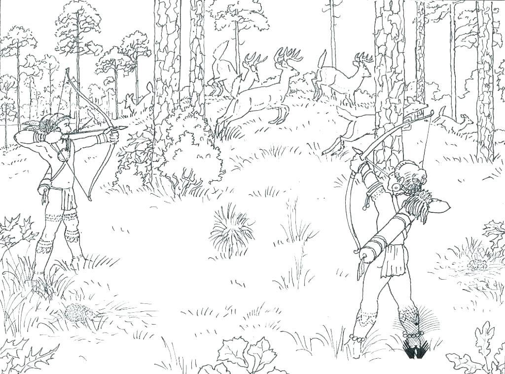 1024x757 Duck Hunting Coloring Pages Realistic Whitetail Deer Coloring