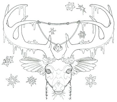 402x350 Buck Coloring Pages Ice Whitetail Buck Coloring Pages
