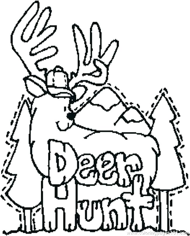 650x806 Coloring Pages Of Deer Whitetail Deer Coloring Pages Deer Coloring