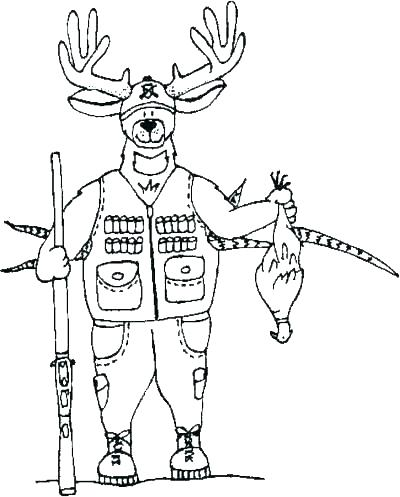 400x497 Deer Hunting Coloring Page Coloring Pages Of Deer Coloring Pages
