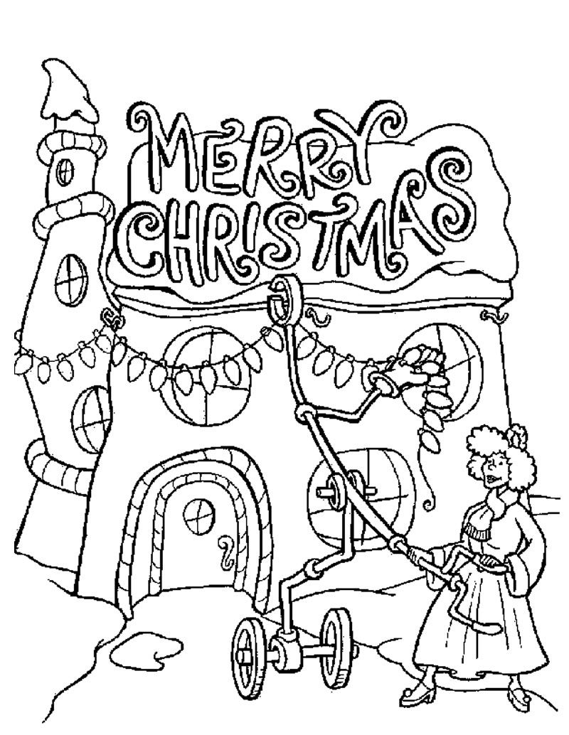 800x1034 Christmas Lights Coloring Pages Grinch Teacher