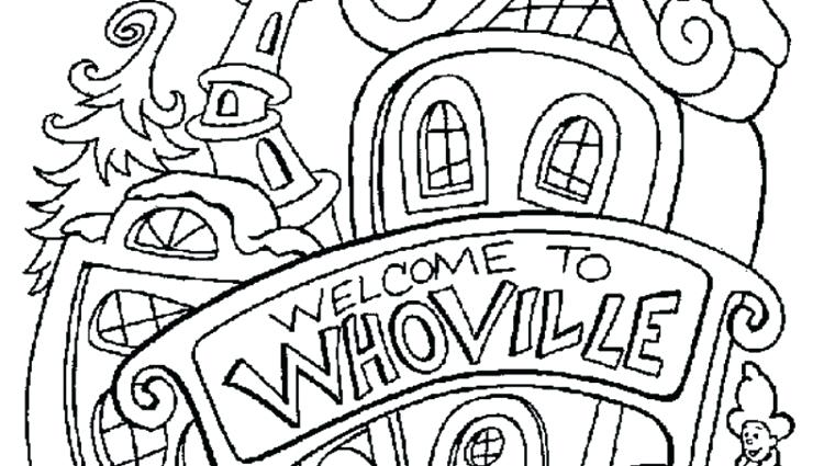 750x425 Whoville Coloring Pages The Driving Into Dr Seuss Whoville