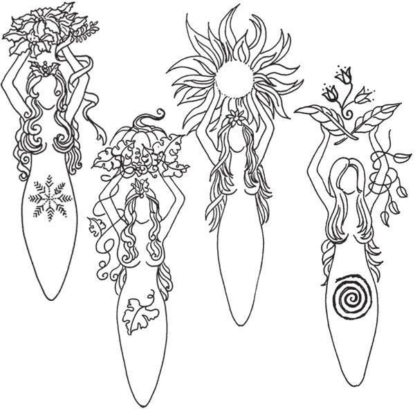 Wiccan Coloring Pages
