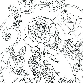 354x354 Wiccan Coloring Pages Coloring Pages Evil Eye Rose Coloring Page