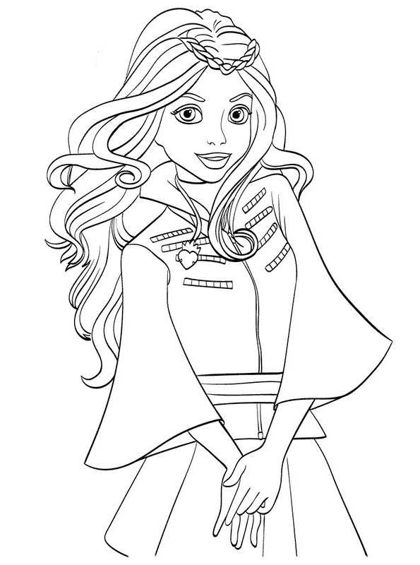 595x800 Kids N Coloring Pages Of Disney Descendant Wicked World