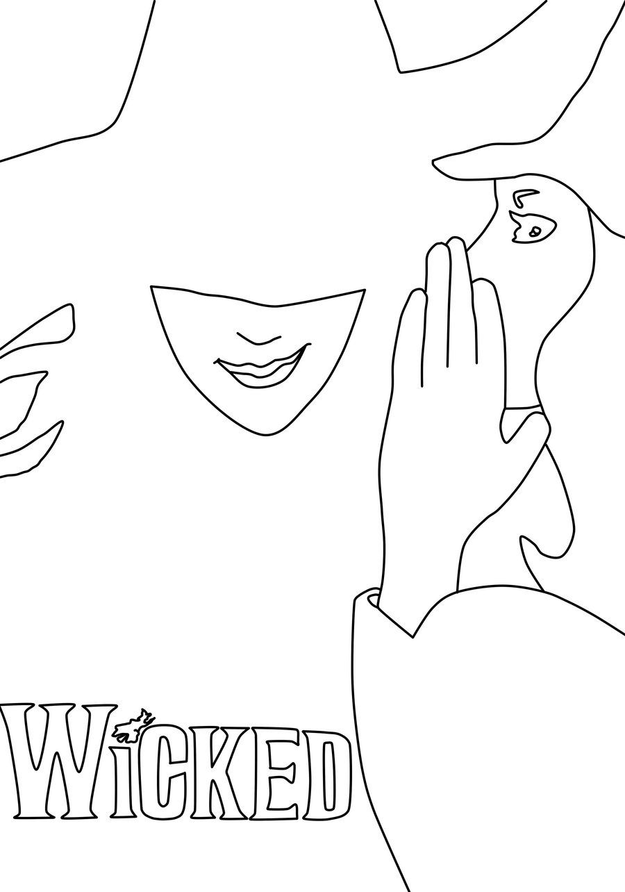 900x1284 Wicked Musical Coloring Page