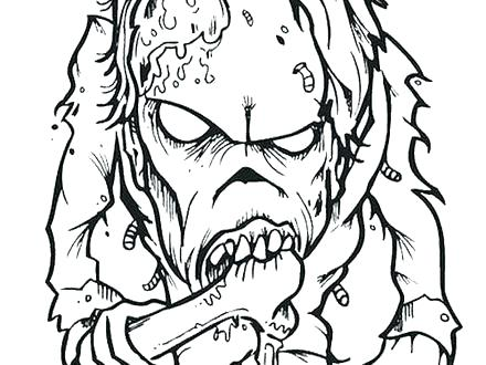 440x330 Creepy Coloring Pages Scary Zombie Coloring Pages Zombie Creepy