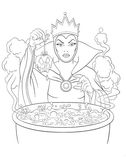 407x512 Disney Villains Coloring Page Wicked Queen Disney Coloring