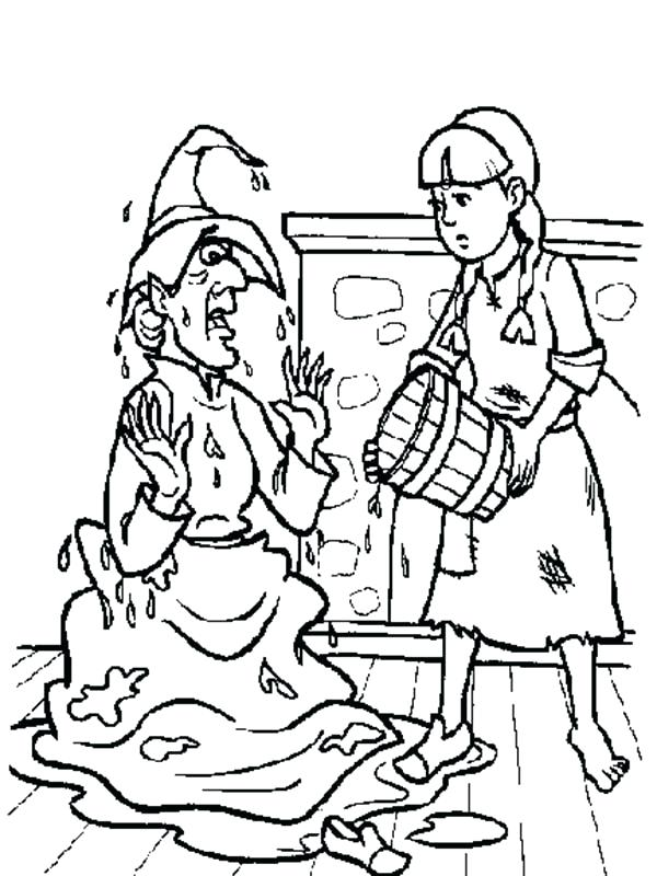 600x800 Dorothy Wizard Of Oz Coloring Pages Wicked Witch Coloring Pages