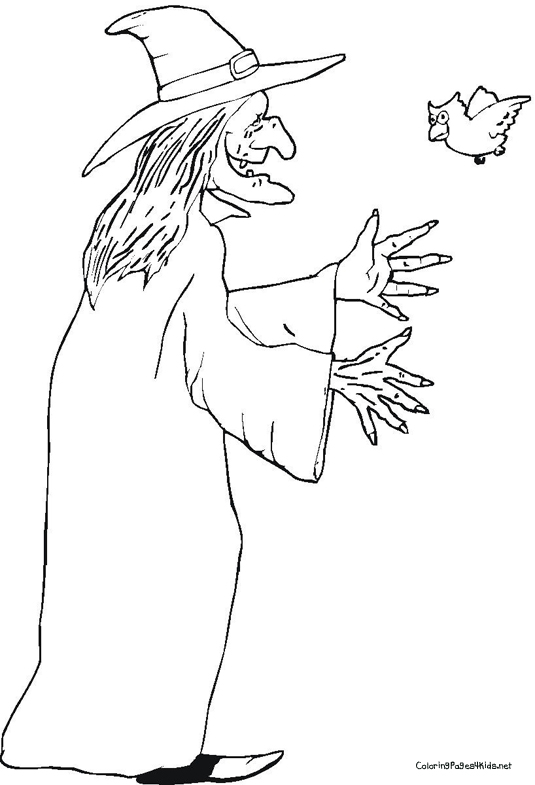 535x785 Witch Coloring Pages