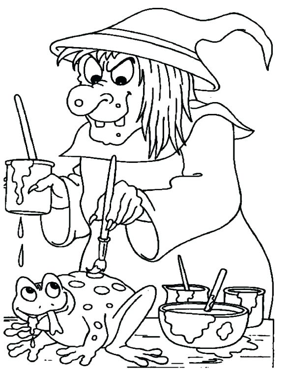 588x754 Witch Coloring Pages Flying Witch Coloring Pages Wicked Witch