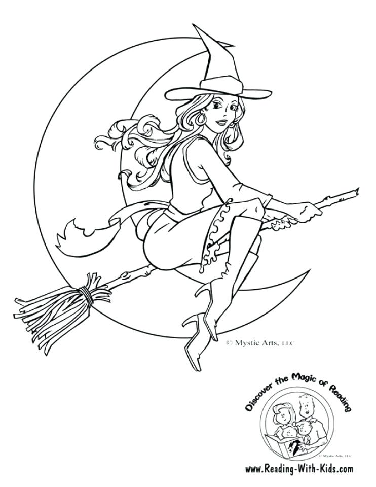 742x960 Witch Coloring Pages Free Simple Witch Coloring Pages For Children
