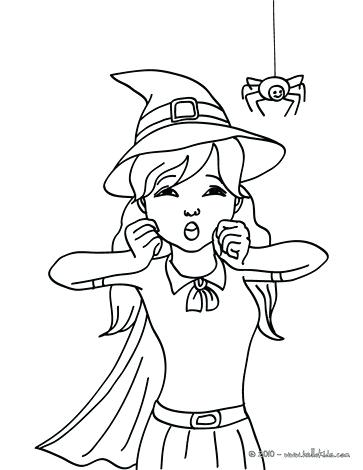 363x470 Witch Coloring Pages Sorceress Holds A Frog Witch Frightened