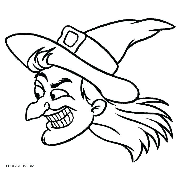 758x716 Witch Coloring Pages