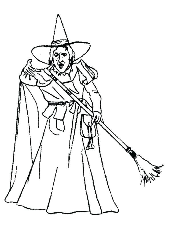 595x842 Wicked Witch Of The West Coloring Pages Wicked Witch Drawing