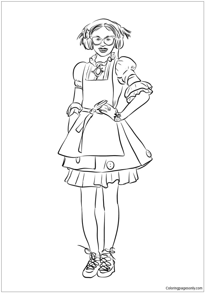 799x1139 Evie From Descendants Wicked World Coloring Page Mal Pages