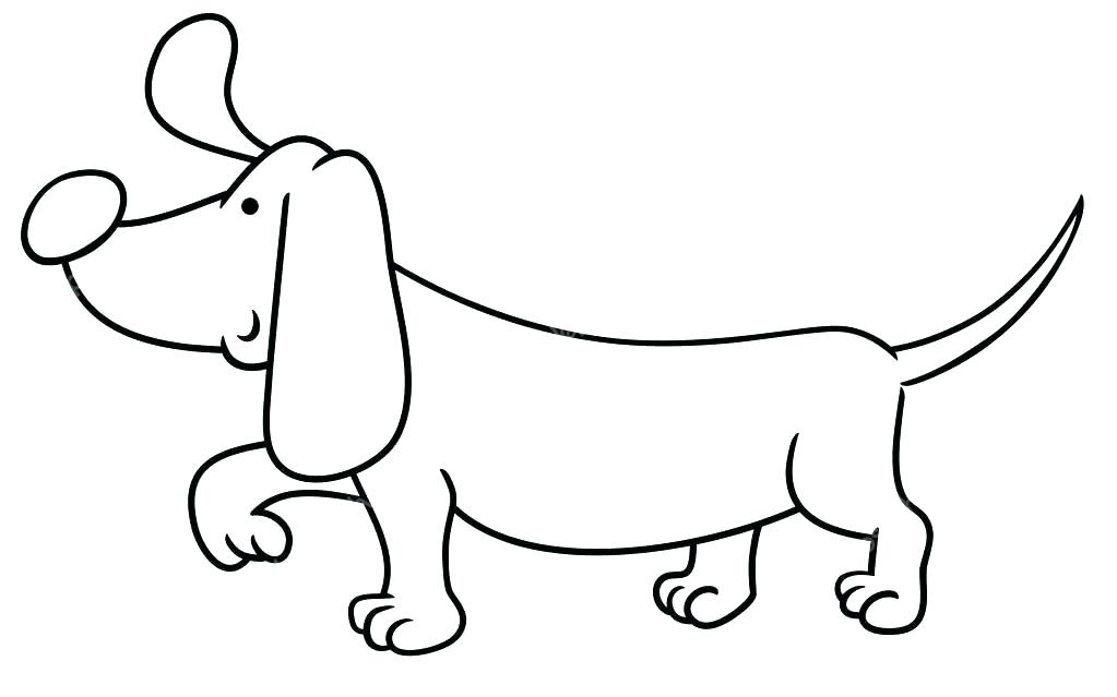 1023x639 Weiner Dog Coloring Pages Coloring Vector Of A Cartoon Fat Wiener