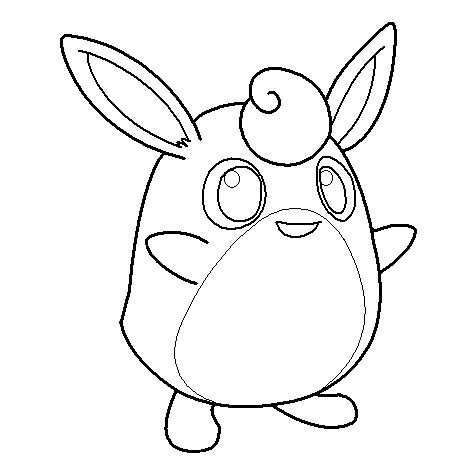 Wigglytuff Coloring Page
