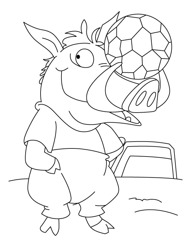 612x792 Wild Boar Gear Up For Match Coloring Page Download Free Wild