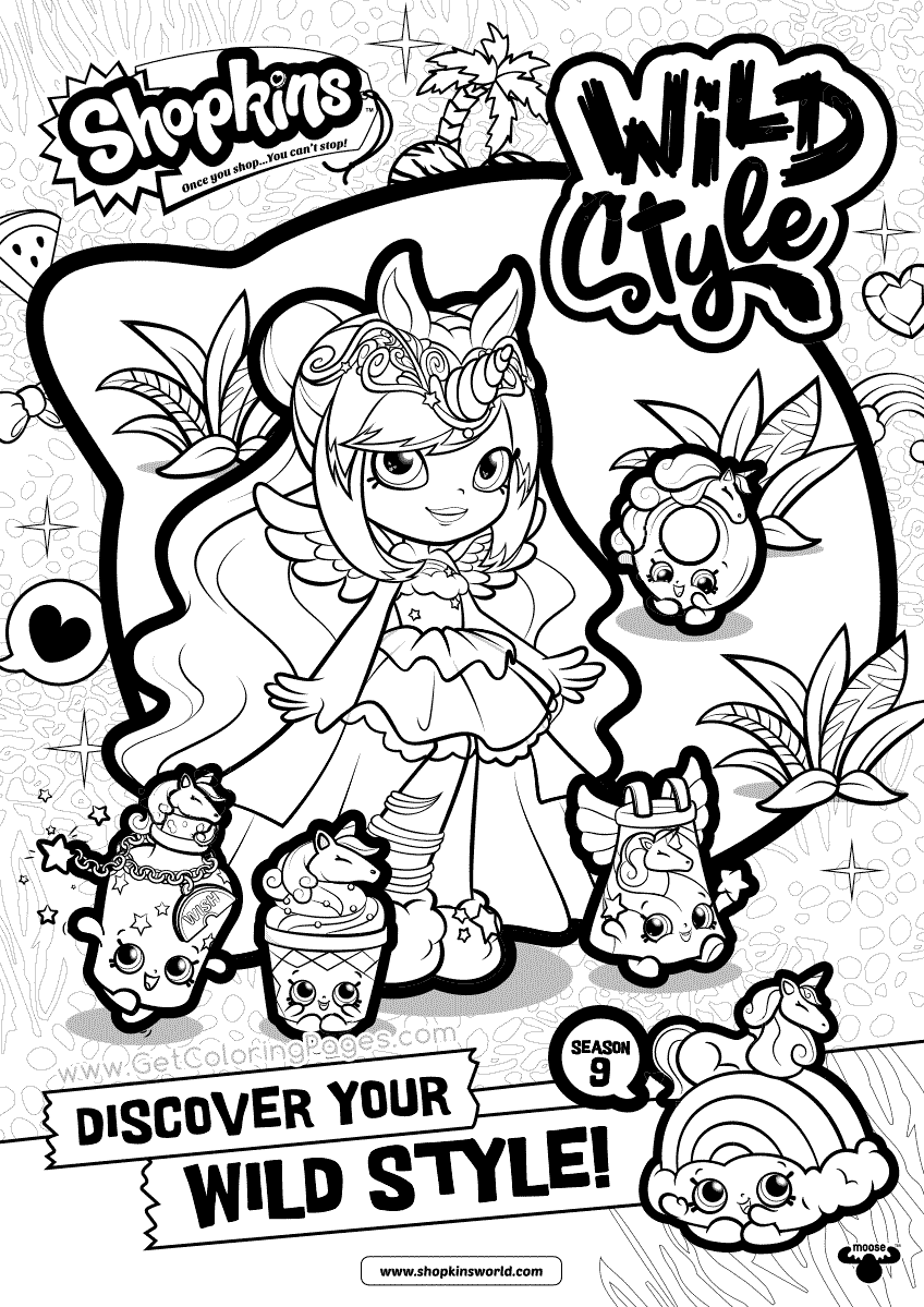 848x1199 Shopkins Wild Style Coloring Pages