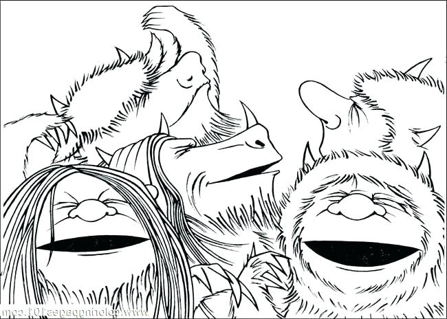 650x464 Where The Wild Things Are Coloring Page Index Coloring Pages Wild