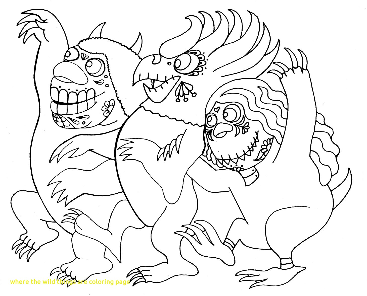 1460x1180 Where The Wild Things Are Coloring Pages Print