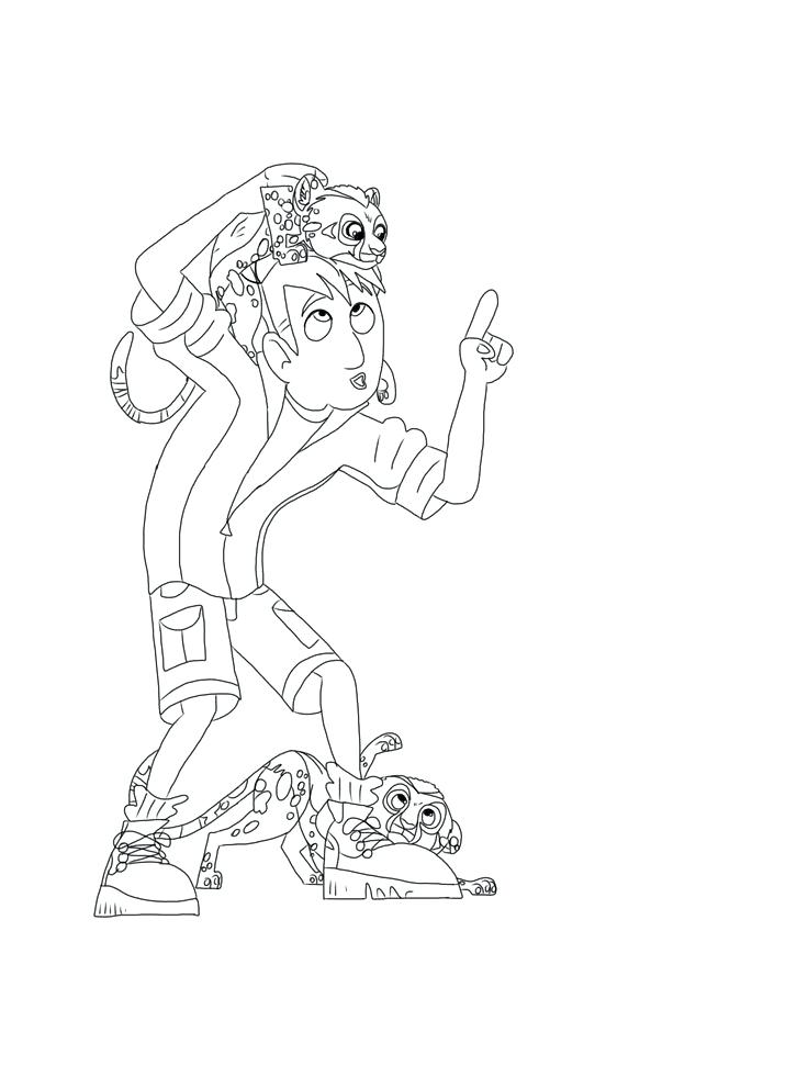 736x981 Wild Kratts Coloring Pages Print Kids Coloring Wild Printable