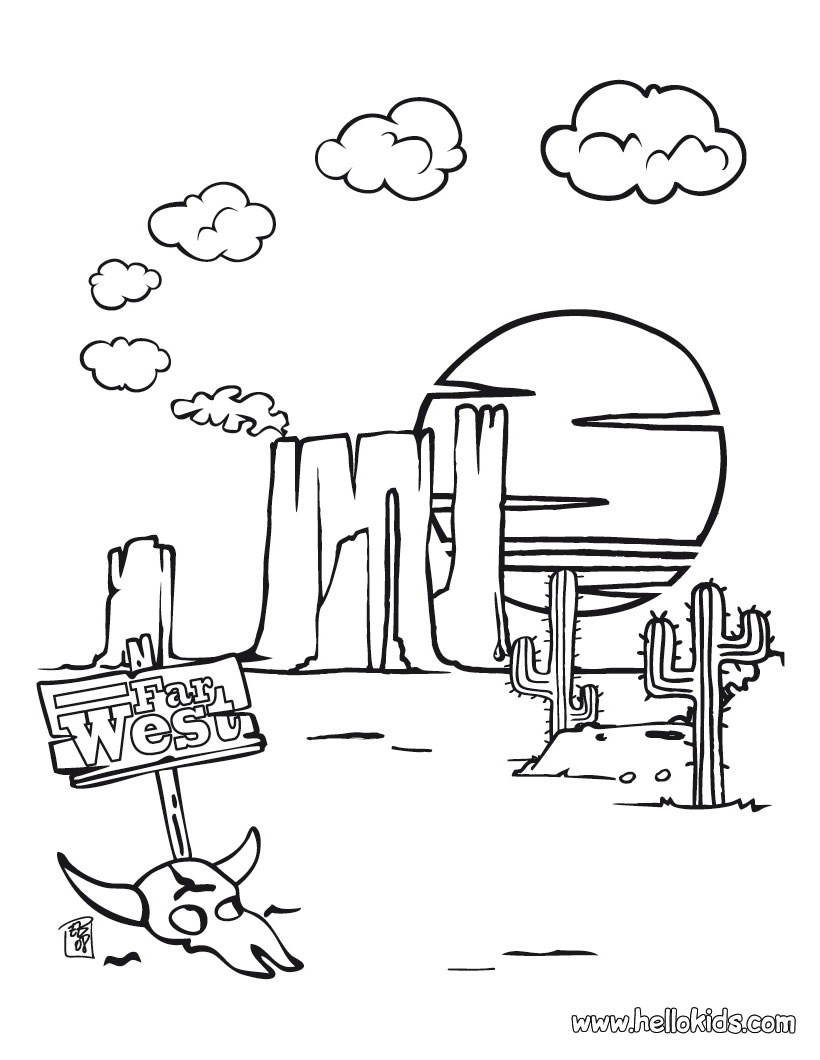 820x1060 Wild West Coloring Pages