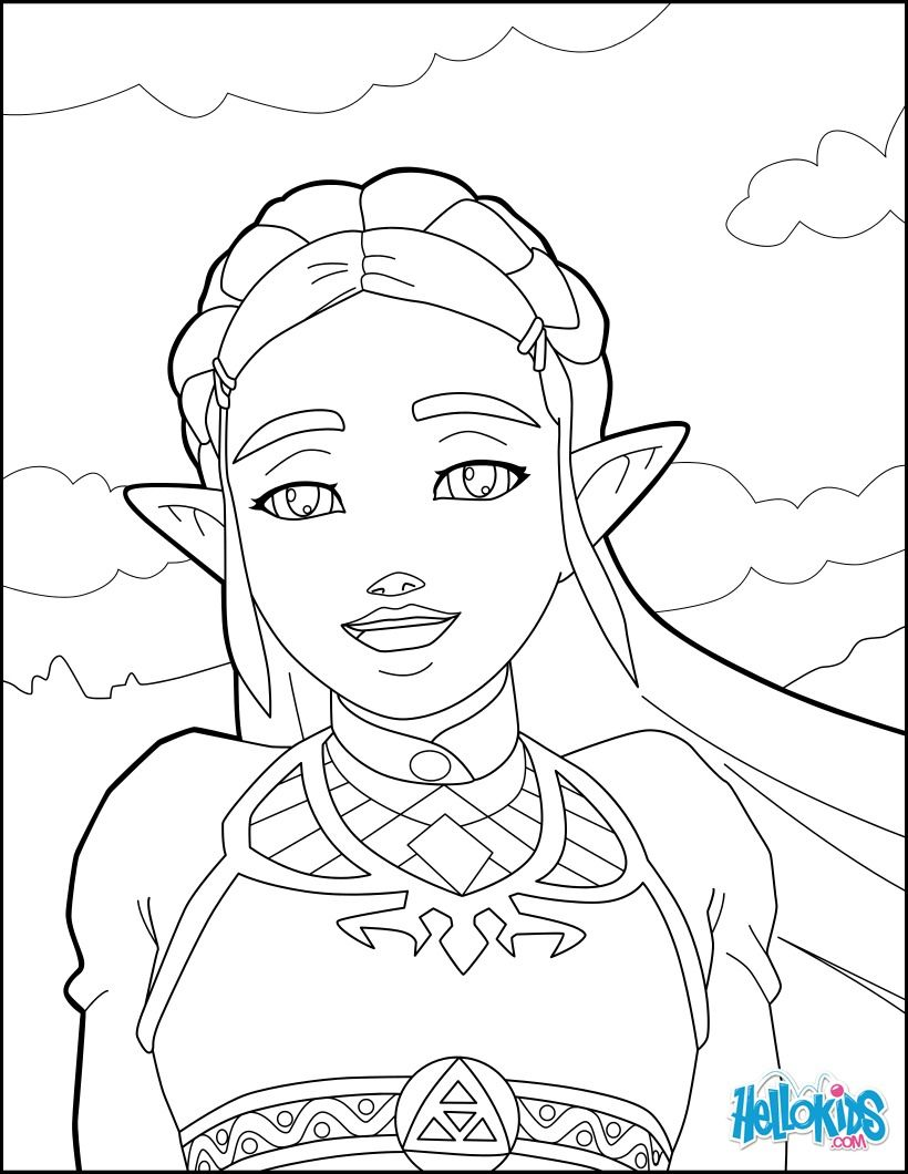 820x1060 Zelda Coloring Page From The New Zelda Games More Video Games