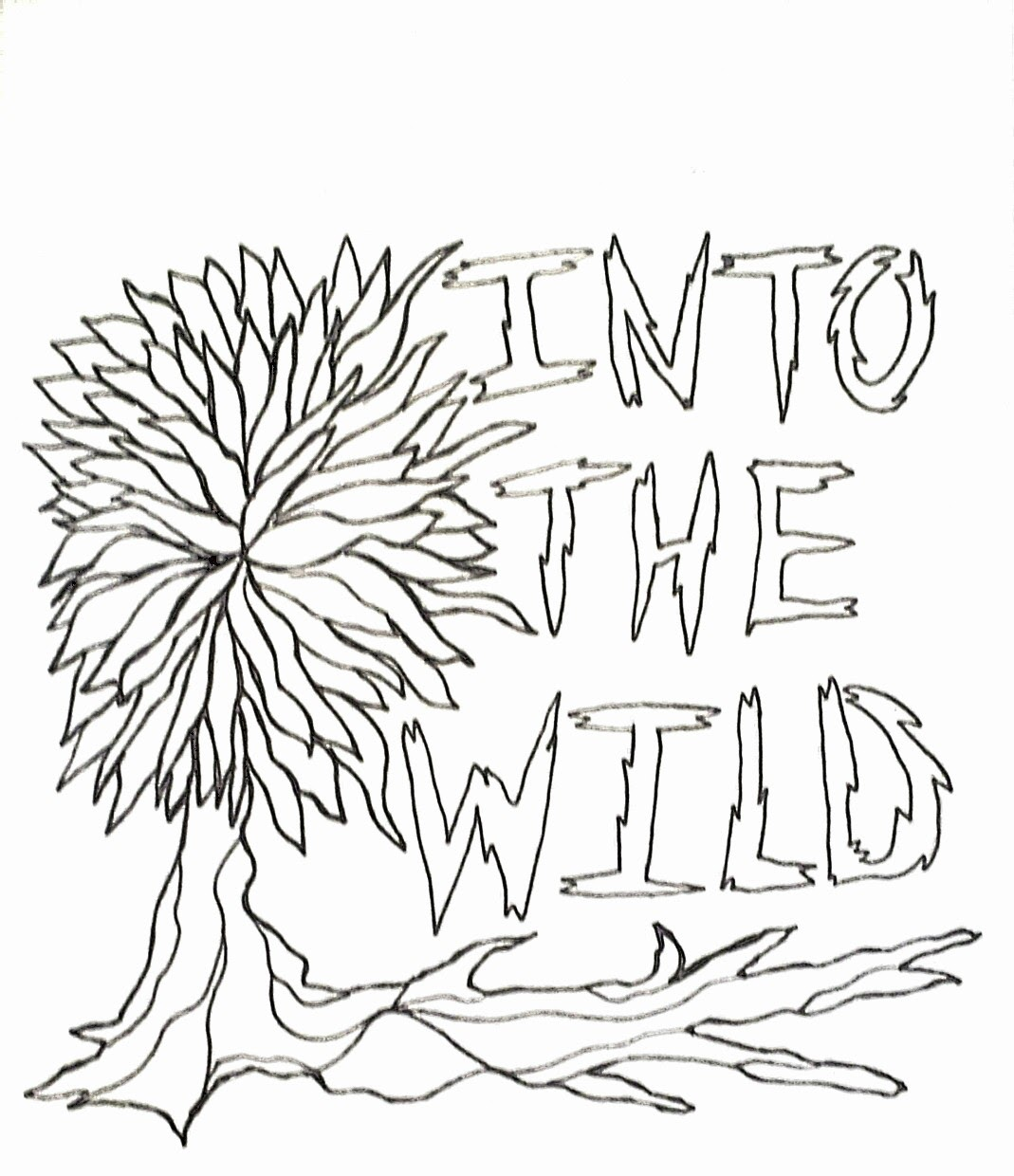 1069x1240 Into The Wild Coloring Page And Affirmation Individual Empowerment