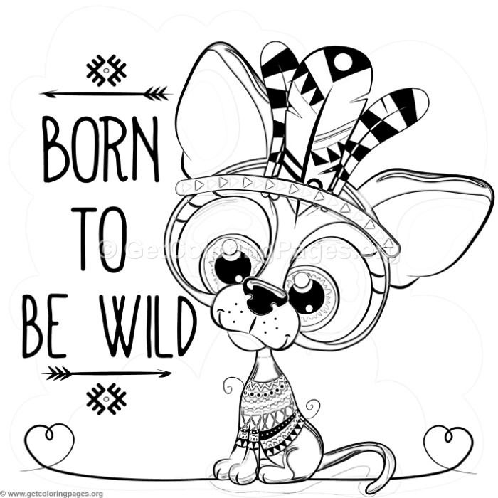 700x700 Free Instant Download Born To Be Wild Dog Coloring Pages
