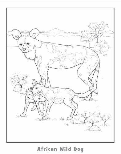 393x500 African Wild Dog Colouring Pages, African Wild Dog Coloring Pages