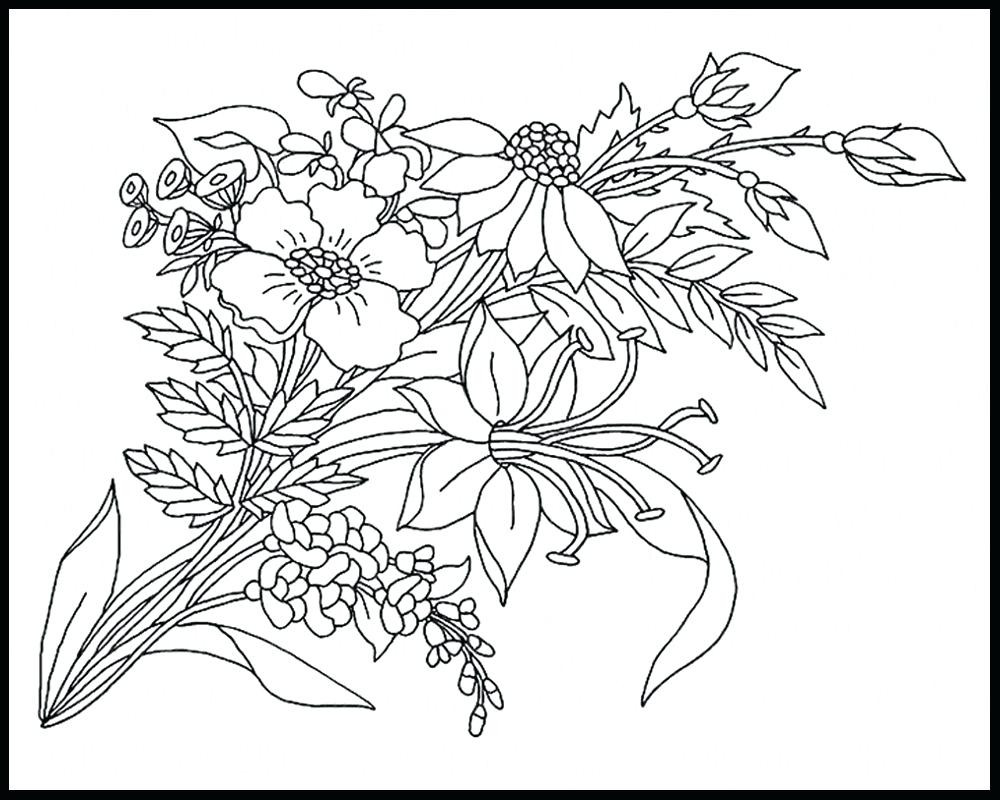 Flower Coloring Book Pages