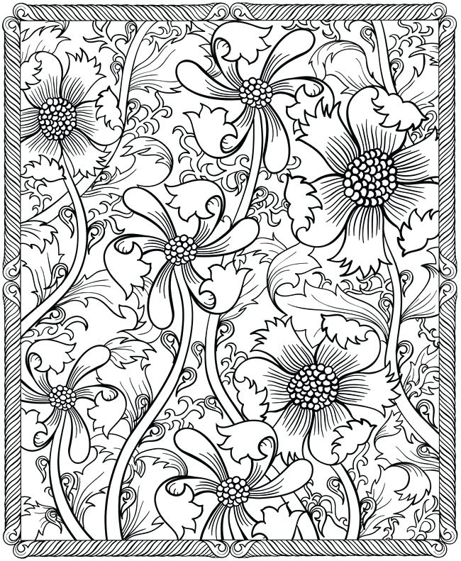 650x791 Wildflower Coloring Pages Hard Coloring Pages Images Celebrating