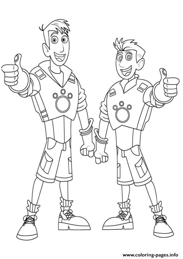 595x842 Wild Kratts Brother Coloring Pages Coloring Pages Printable