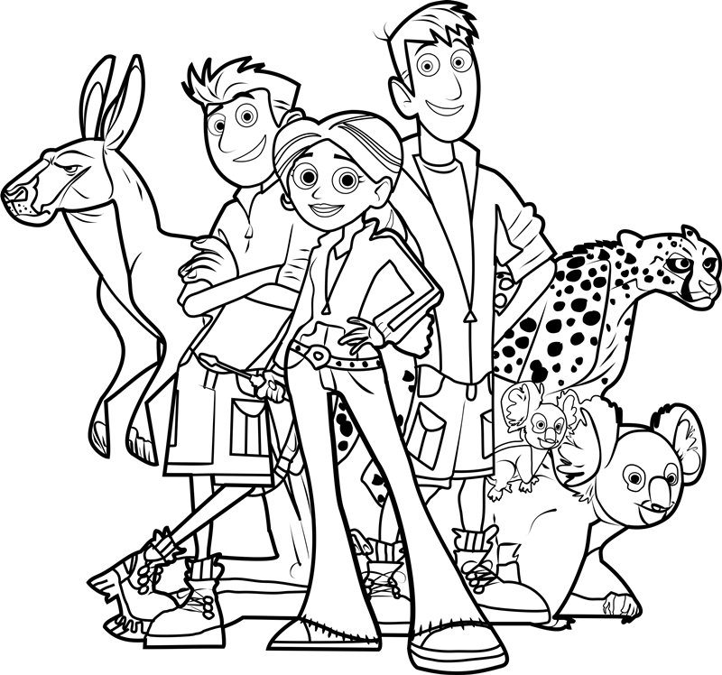 800x748 Wild Kratts Coloring Pages