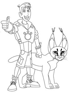 236x333 Wild Kratts Coloring Pages