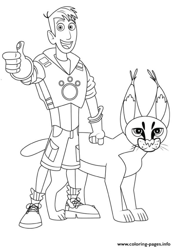 595x842 Wild Kratts Coloring Pages