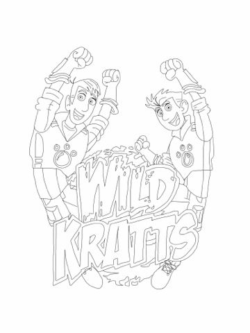 360x480 Wild Kratts Coloring Pages Printable Birthday Parties