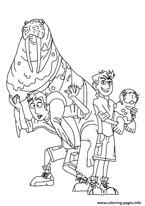 595x842 Marvellous Design Wild Kratts Coloring Pages Of Printable Pbs Kids