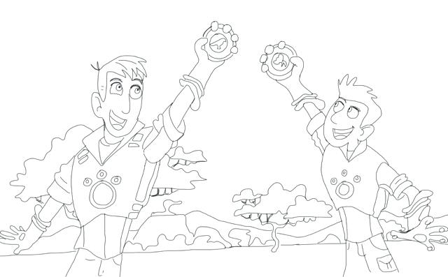 640x397 Wild Kratts Coloring Pages
