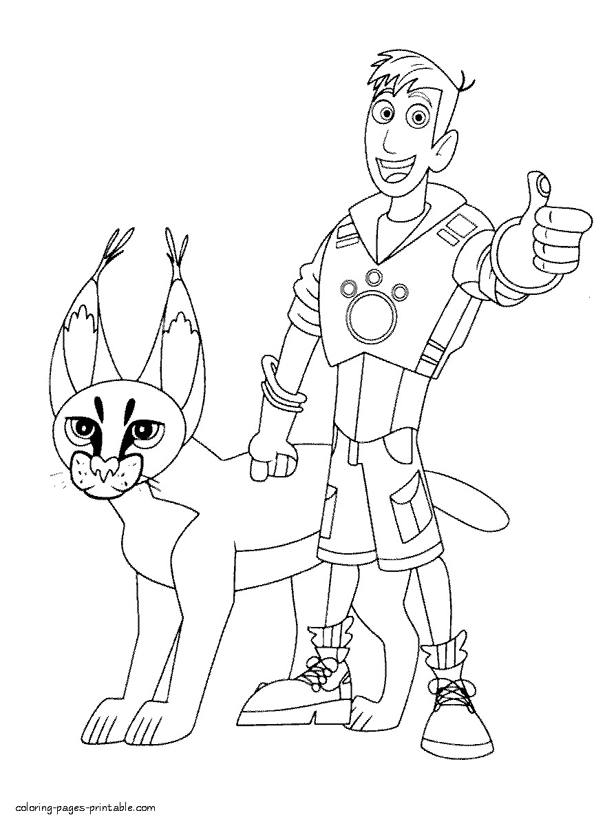 895x1196 New Wild Kratts Coloring Pages Gallery Printable Coloring Sheet