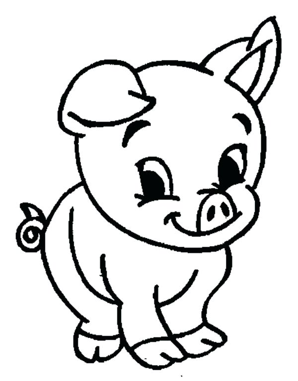 600x768 Pictures Of Pigs To Color Cute Baby Pig Coloring Pages Pig Cartoon